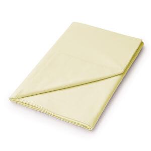 Helena Springfield Plain Dye Flat Sheet - Double - Citron