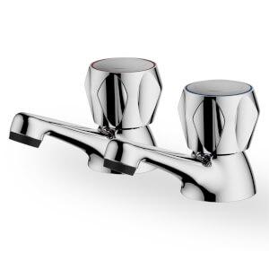 Talisker Classic Bath Pillar Taps - Chrome