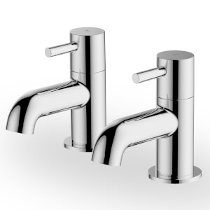 Aber Bath Pillar Taps - Chrome