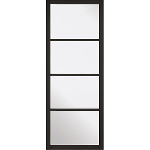 Soho - 4 Lite Glazed - Primed Black Internal Door - 1981 x 762 x 35mm