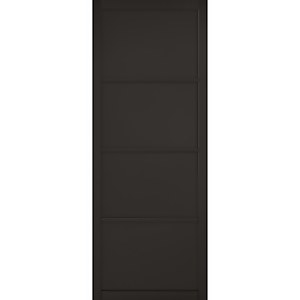 Soho - 4 Panel Primed Black Internal Door - 1981 x 686 x 35mm