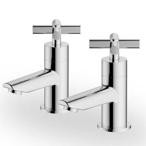 Colwith Bath Pillar Taps - Chrome
