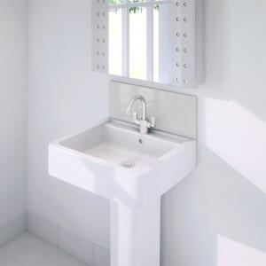 Wetwall Upstand - 600 x 200mm - Arctic Breeze - Glass