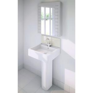 Wetwall Upstand - 600 x 200mm - Magnolia - Glass
