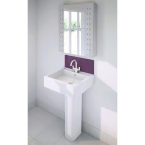 Wetwall Upstand - 600 x 200mm - Jewel - Glass