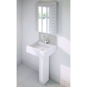 Wetwall Upstand - 600 x 200mm - Sterling Silver - Glass