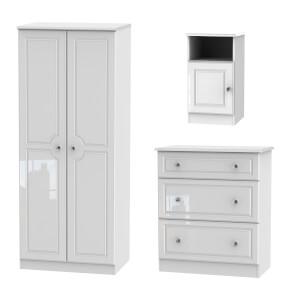 Stonehaven 3 Piece Bedroom Furniture Set - White