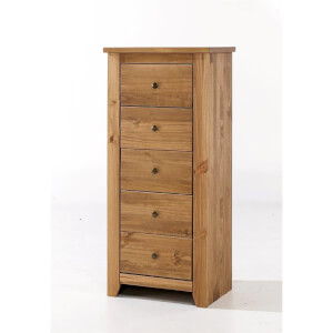 Havana Pine 5 Drawer Chest