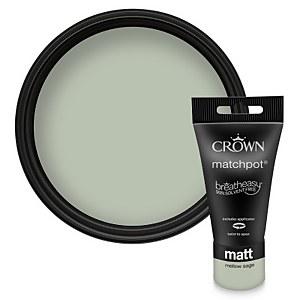 Crown Breatheasy Mellow Sage - Matt Emulsion Paint - 40ml Tester