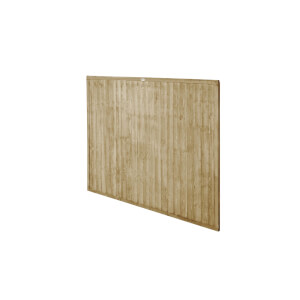 6ft x 5ft (1.83m x 1.52m) Pressure Treated Closeboard Fence Panel - Pack of 4