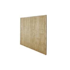 6ft x 6ft (1.83m x 1.83m) Pressure Treated Closeboard Fence Panel - Pack of 5