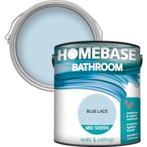 Homebase Bathroom Mid Sheen Paint - Blue Lace 2.5L