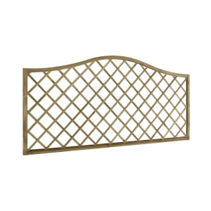6ft x 3ft (1.8m x 0.9m) Pressure Treated Decorative Europa Hamburg Garden Screen - Pack of 5
