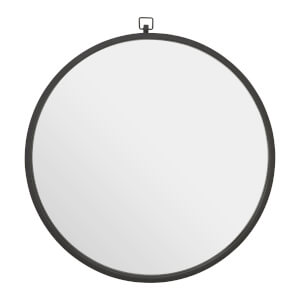Ella Round Wall Mirror - Black