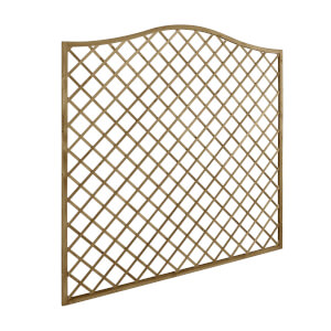 1.8m x 1.8m Pressure Treated Decorative Europa Hamburg Garden Screen - Pack of 5