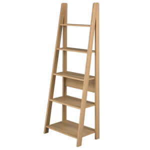 Tiva Ladder Bookcase - Oak