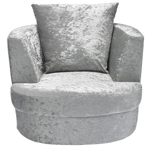 Bliss Small Swivel Chair - Silver