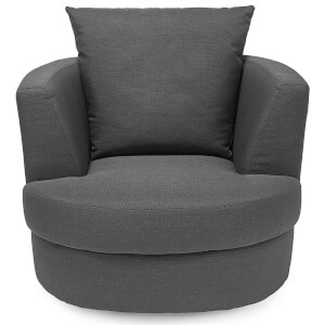 Bliss Small Swivel Chair - Grey