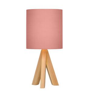 Inga Natural Tripod Table Lamp - Blush Shade