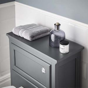 Bathstore Savoy Toilet Worktop - Charcoal Grey