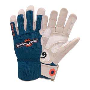 Stonebreaker Landscape Pro Ultimate Outdoor Work Gloves - Large - Blue