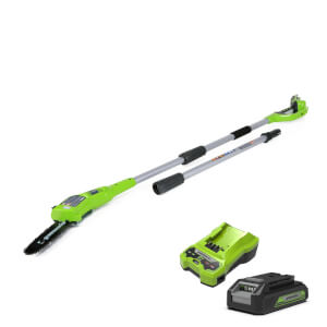 Greenworks 24V Polesaw With Battery Charger