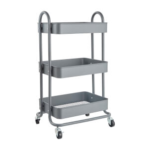 3 Tier Storage Trolley - Grey