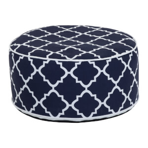 Charles Bentley Outdoor Inflatable Foot Stool Navy Blue