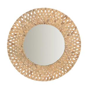 Mumbai Natural Woven Circular Mirror