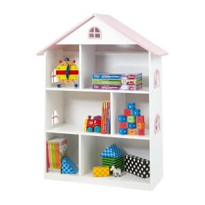 White Dollhouse Bookcase