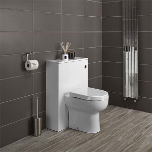 Bathstore Alpine Duo 600mm Toilet Unit (including Dual Cistern Fittings) - Gloss White