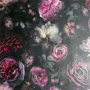 Arthouse Dark Magic Floral Smooth Glitter Multi Coloured Wallpaper