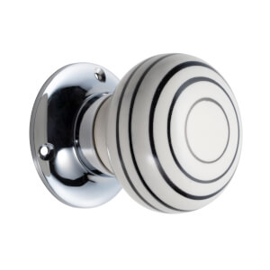 Sandleford Milan Ceramic Mortice Knob Set