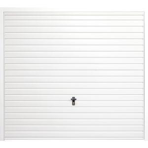 Horizontal 8' x 7' Frameless Steel Garage Door White