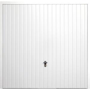 Vertical 7' x 7' Framed Steel Garage Door White
