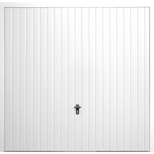 Vertical 7' x 6' 6 Frameless Steel Garage Door White