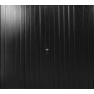 Vertical 7' 6  x 6' 6  Framed Steel Garage Door Black