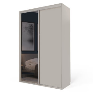 Cashmere Freestanding Sliding Wardrobe with Interiors (W)1530mm