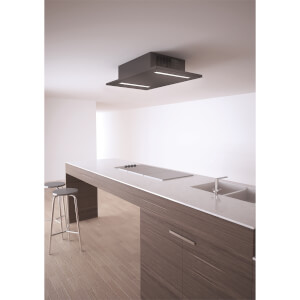 Inox Prizm 900mm Ceiling Mounted Cooker Hood - Satin Black