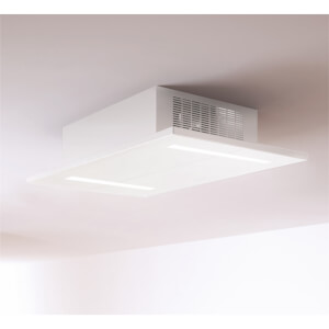 Inox Prizm 900mm Ceiling Mounted Cooker Hood - Satin White