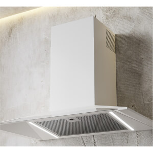 Inox Shade 900mm Wall Mounted Cooker Hood - White