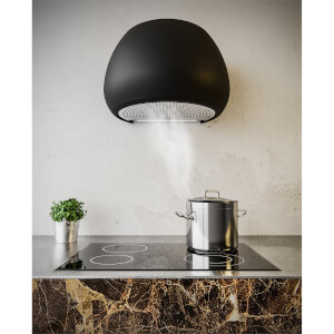 Inox Icon 65cm Wall-Mounted Canopy Cooker Hood - Satin Black