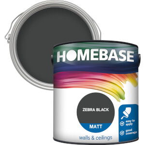 Homebase Matt Paint - Zebra Black 2.5L