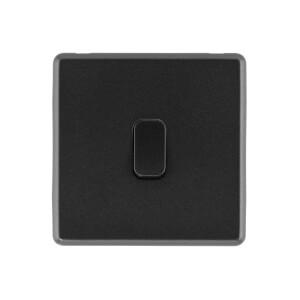 Arlec Rocker 10A 1Gang 2Way Charcoal Grey Single light switch