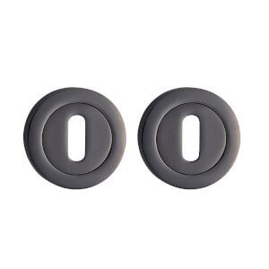 Sandleford Round Keyhole Escutcheon - Black Nickel