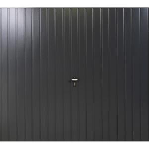 Vertical 7' x 6' 6  Framed Steel Garage Door Anthracite Grey