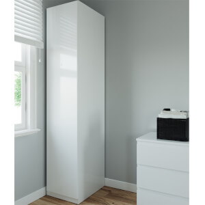 Modular Bedroom Handleless Single Wardrobe - White