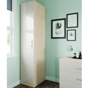 Modular Bedroom Slab Single Wardrobe - Cashmere