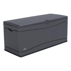Lifetime Heavy Duty Outdoor Deck Box ? Carbonized Gray ? 130 gallon (492 L)