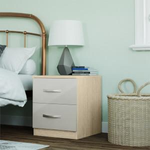 Modular Bedroom Slab Bedside Chest - Cashmere